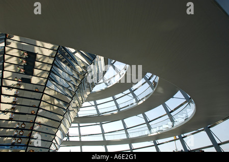 Dome of building Reichstag architect Norman Forster Berlin Germany - Stock Photo