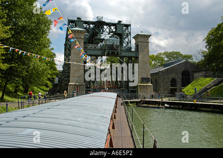 Draw works Henrichenburg, Westfaelisches industry museum, Waltrop, channel, Dortmund Ems channel, museum, industry - Stock Photo