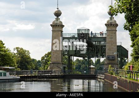 Draw works Henrichenburg, Westphalian industry museum, Waltrop, channel, Dortmund Ems channel, museum, industry - Stock Photo