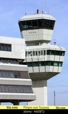 Tower at Berlin airport Otto Lilienthal in Tegel, Berlin - Stock Photo