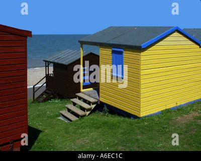 whitstable kent beach huts - Stock Photo