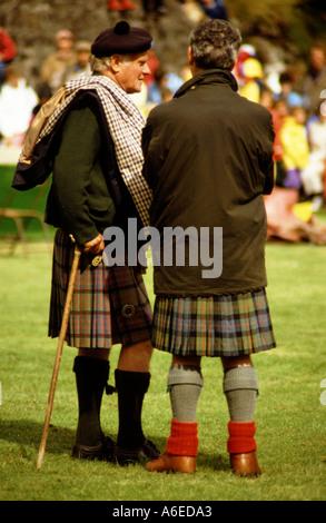 two men skye highland games scotland - Stock Photo