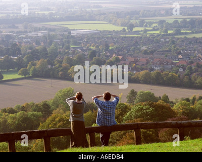 buckinghamshire chilterns princes risborough view from whiteleaf hill - Stock Photo