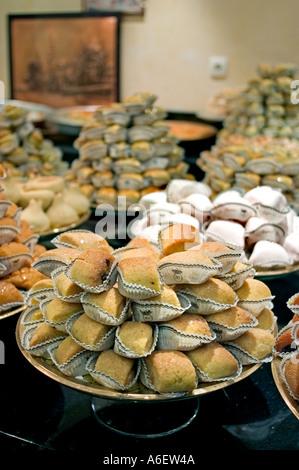 Paris France Stores 'Algerian Pastries'  'La Baque de Kenza' Detail Djiriates Dessert - Stock Photo