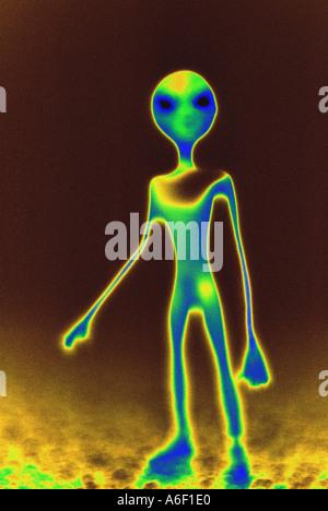 Extraterrestrial Alien - Stock Photo