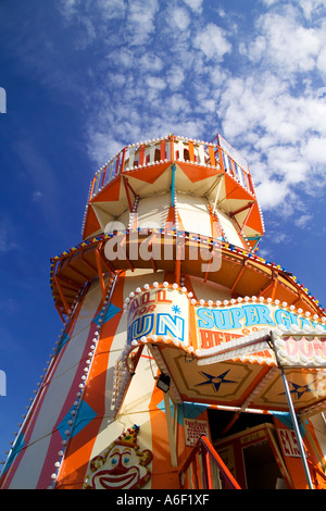 Traditional helter skelter at St Giles Fair Oxford England. - Stock Photo