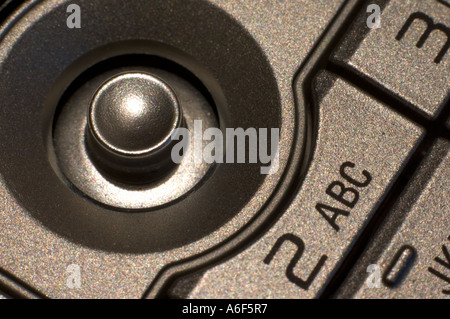 Toggle button on Nokia mobile phone. - Stock Photo