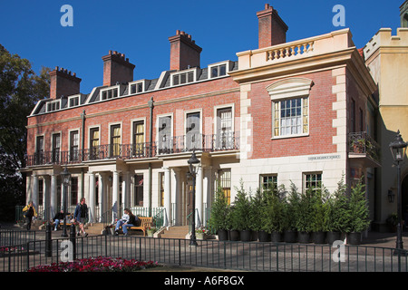 Upper Regency Street, English section of EPCOT Center, World Showcase, Disney World, Orlando, Florida, USA - Stock Photo