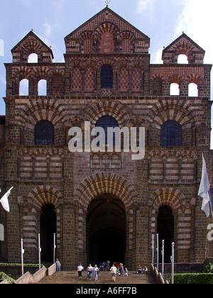 france massif central auvergne haute loire le puy en velay cathedral de notre dame - Stock Photo