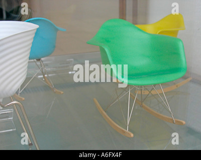 Miniature Eames rocking chair 2 - Stock Photo