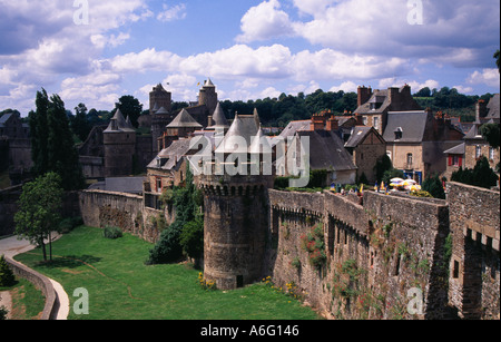 The Chateau de Fougeres in Brittany - Stock Photo