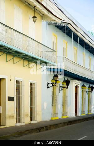 Academia Dominicana de le Historia, La Medicina y La Lengua, Calle Mercedes, Colonial Zone, Santo Domingo, Dominican - Stock Photo