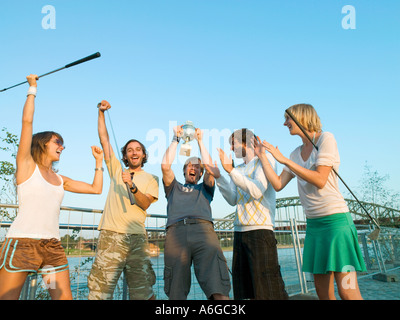 Winning golfers - Stock Photo