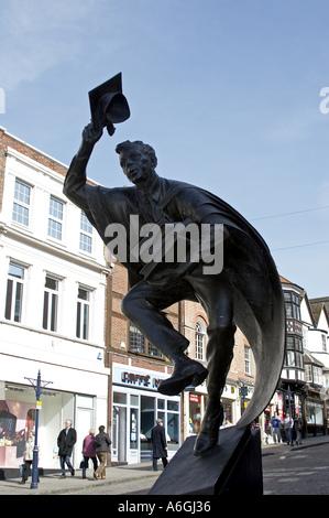 The Surrey Scholar sculpture statue by Allan Sly 2002 Guildford Surrey England - Stock Photo