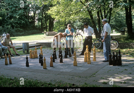 Chess Hirschgarten Munich Bavaria Germany - Stock Photo