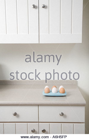 Eggs in a kitchen - Stock Photo
