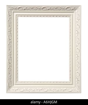 Picture frame cut out on white background - Stock Photo