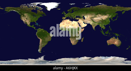 Map of Earth (Satellite Image) - Stock Photo