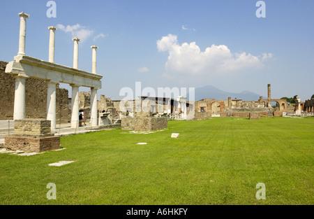Ruins of Pompeii, Italy - Stock Photo