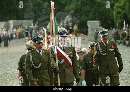 Veterans of the Polish Home Army during the 60th anniversary of the Warsaw Uprising, Poland - Stock Photo