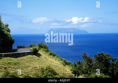 view to Corvo, Portugal, Azores - Stock Photo