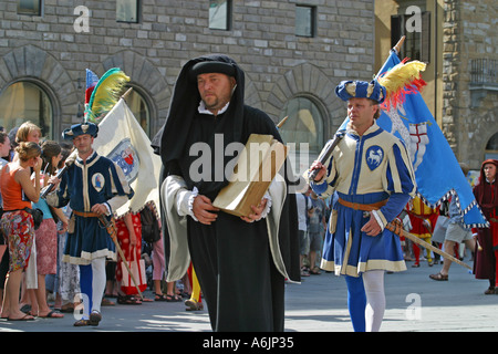 The  Costume  football game procession Florence Italy - Stock Photo