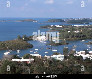 View Of Bay, Jew's Bay, Southampton Parish, Bermuda - Stock Photo