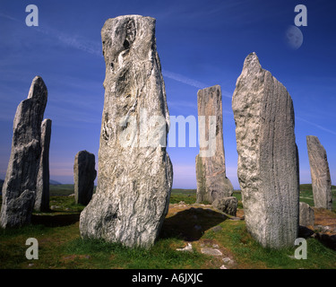 GB - SCOTLAND:  Callanish Standing Stones on Isle of Lewis in the Outer Hebrides - Stock Photo