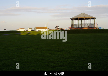 view of the memorial bandstand at Deal, Kent, UK - Stock Photo