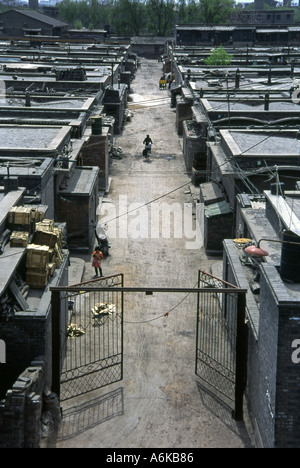 Pingyao from City Wall UNESCO World Heritage Site Shanxi China Chinese Asian Asiatic Asia - Stock Photo