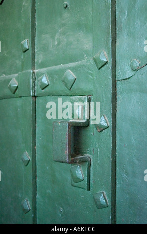Close up of an old door inside Saint Basil s Cathedral in Red Square Moscow - Stock Photo