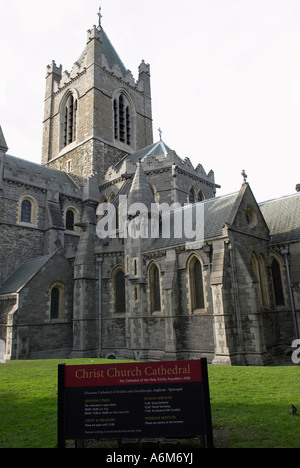 Christ Church Cathedral in Dublin Ireland also known as the Cathedral of the Holy Trinity Founded circa 1030 - Stock Photo