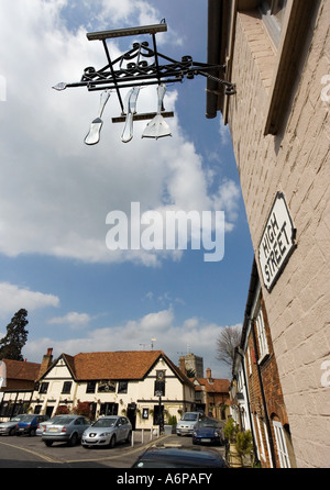 Fat Duck Restaurant with Hinds Head Hotel in the background, Bray, Berkshire, England, United Kingdom Stock Photo