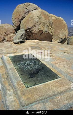 Grave of Cecil John Rhodes Matopos Zimbabwe Africa - Stock Photo
