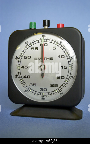 Close up of Smiths laboratory timer used in schools UK - Stock Photo