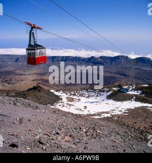 Cable car Mt Teide Tenerife Canary Islands - Stock Photo
