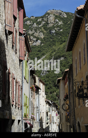 Villefranche de Conflent, city view - Stock Photo