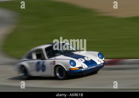 Skott Burkland races his 1969 Porsche 911R at the SVRA Sprint Vintage Grand Prix at Mid-Ohio 2004