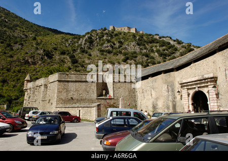 Villefranche de Conflent, city wall - Stock Photo