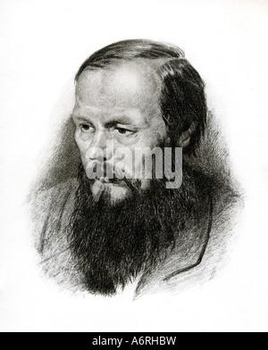 Dostoevsky, Fyodor Mikhailovich, 11.11.1821 - 9.2.1881, Russian writer, novelist, portrait, Fedor Michajlovic Dostoevskij, - Stock Photo