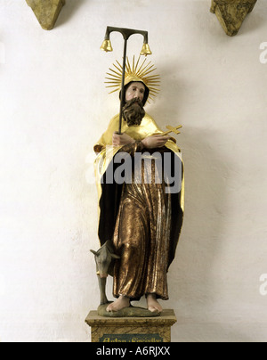 'Anthony, 'the Great', circa 251 - circa 353, egyptian Saint, 'Anthony the Anchorite', sculpture, wood, Saint Anthony - Stock Photo