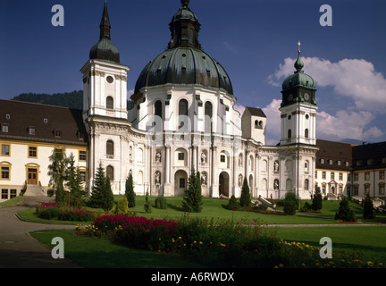 architecture, churches and convents, Germany, Bavaria, Ettal, minster, exterior view, 1745 - 1762, built by Joseph - Stock Photo
