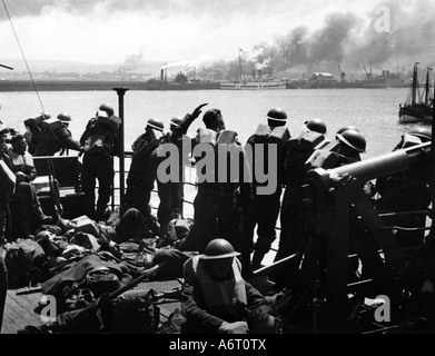 events, Second World War / WWII, France, Dunkirk, evacuation of Allied troops 26.5.1940 - 4.6.1940, British soldiers - Stock Photo