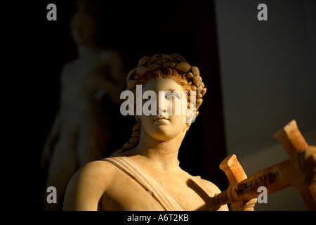 Roman statue of the god Apollo at the National Museum in Tripoli Libya - Stock Photo