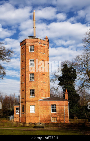 Chatley Heath Semaphore Tower. Old Lane, Ockham, Elmbridge, Surrey, England, UK - Stock Photo