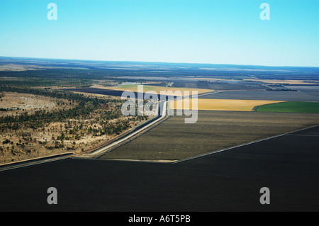 irrigated fields Central Queensland - Stock Photo