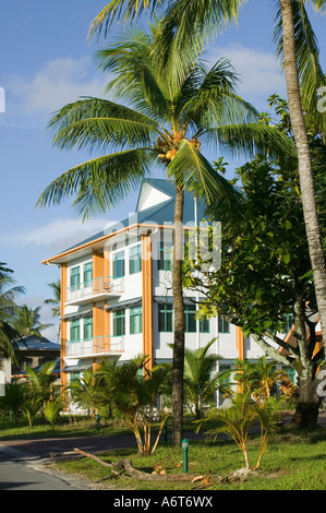The new Tuvaluan parliament building on Funafuti, built with grant aid from Taiwan - Stock Photo