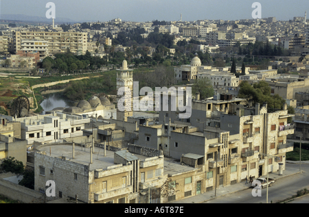 Hama, Syria - The Al-Nuri Mosque viewed from the Citadel - Stock Photo