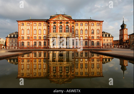 Corps de Logis, garden front, castle Bruchsal, , district Karlsruhe, Baden-Wuerttemberg, Germany - Stock Photo