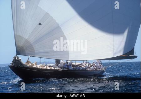 1933 Camper and Nicholson J Class Velsheda Logan Classic regatta 2000 Auckland New Zealand - Stock Photo